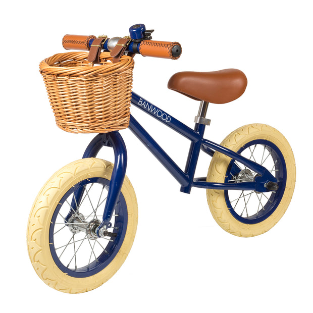 Banwood First Go! Balance Bike + Helmet - Navy - Save £5 Package - Nursery Edit