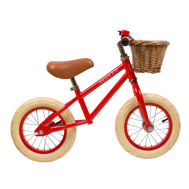 Banwood First Go! Balance Bike - Red - Nursery Edit