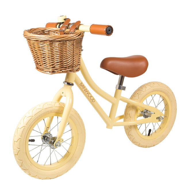 First Go! Balance Bike + Helmet- Vanilla