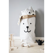 Tellkiddo Paper Toy Storage Bag - Bear - Nursery Edit