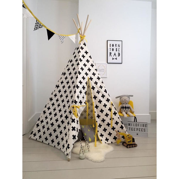 Wildfire Teepees Cross Teepee with Yellow Trim