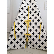 Wildfire Teepees Cross Teepee with Yellow Trim - Nursery Edit