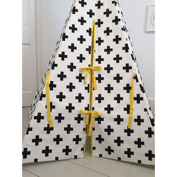 Cross Teepee with Yellow Trim