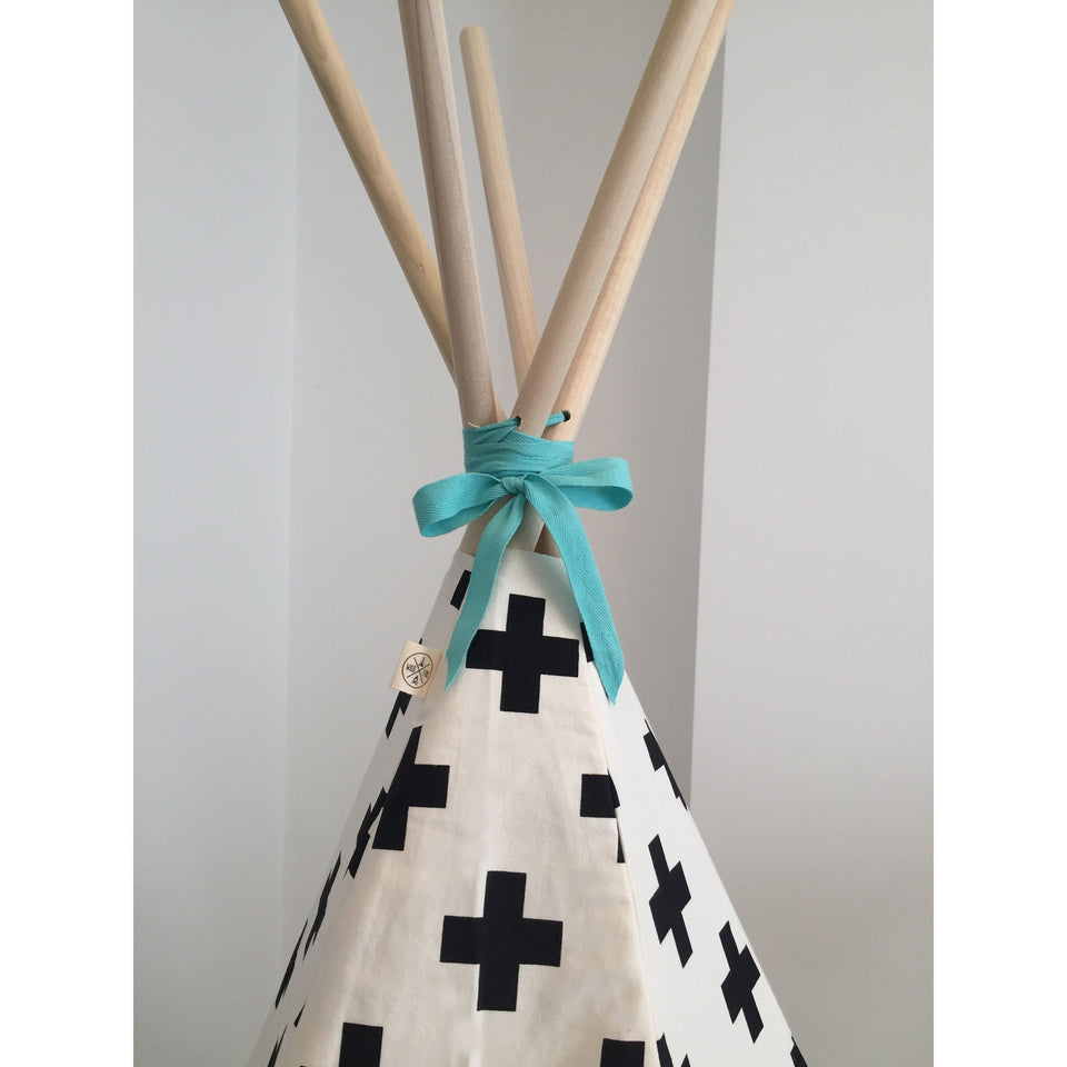Wildfire Teepees Cross Teepee with Seafoam Trim