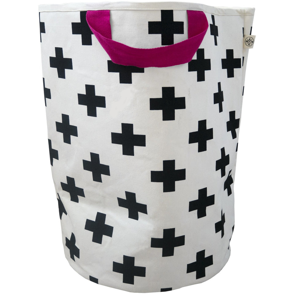 Wildfire Teepees Cross Toy Storage Bag - Pink Handle