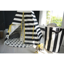 Load image into Gallery viewer, Wildfire Teepees Stripe/Cross Print Reversible Play Mat - Nursery Edit