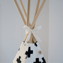 Load image into Gallery viewer, Wildfire Teepees Cross Teepee with White Trim - Nursery Edit