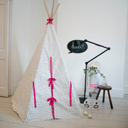 Wildfire Teepees Dash Teepee with Pink Trim - Nursery Edit