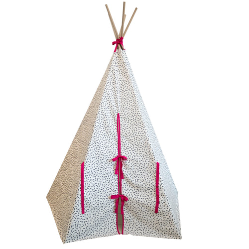 Wildfire Teepees Dash Teepee with Pink Trim