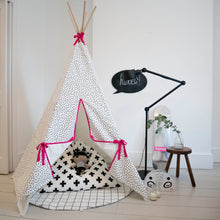 Load image into Gallery viewer, Wildfire Teepees Dash Teepee with Pink Trim - Nursery Edit