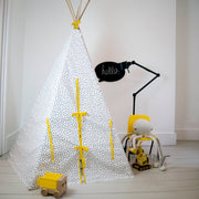 Wildfire Teepees Dash Teepee with Yellow Trim - Nursery Edit
