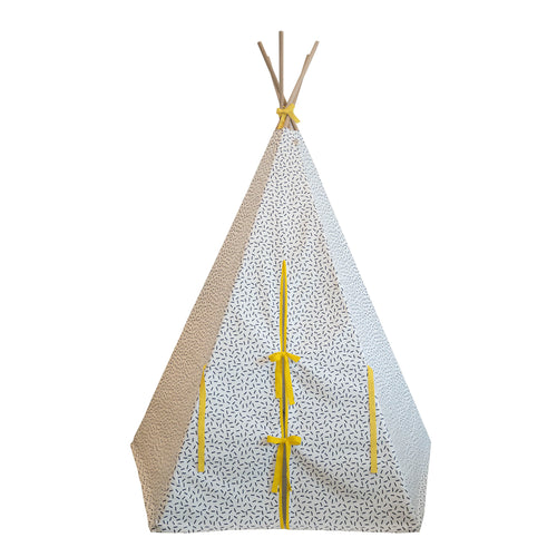 Wildfire Teepees Dash Teepee with Yellow Trim