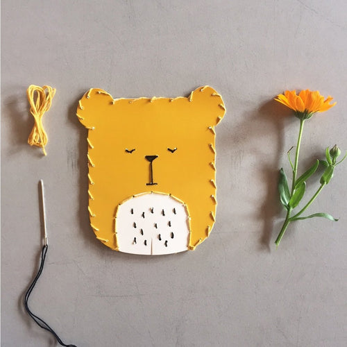 Fabelab Embroidery Kit Bear