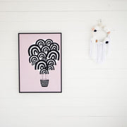 Wonder & Rah Pink Hot Air Balloon Print A3 - Nursery Edit