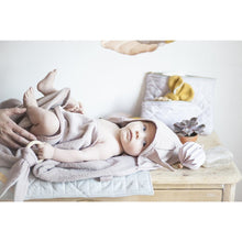 Load image into Gallery viewer, Fabelab Hooded Towel Cape Bunny - Mauve - Nursery Edit