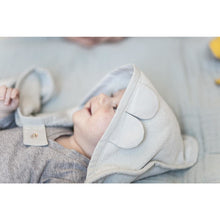 Load image into Gallery viewer, Fabelab Hooded Towel Cape Bear - Icey Grey - Nursery Edit