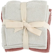 Load image into Gallery viewer, Konges Sløjd Organic Cotton Wash Cloths - Bark 5 Pack - Nursery Edit