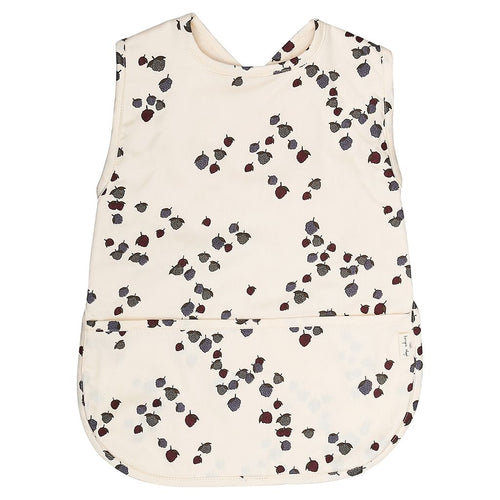 Konges Slojd Comea Mulberry Wipe Clean Large Bib - Nursery Edit