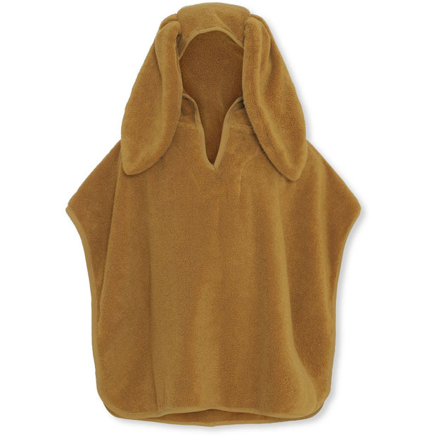 Konges Sløjd Organic Cotton Terry Poncho Towel - Mustard