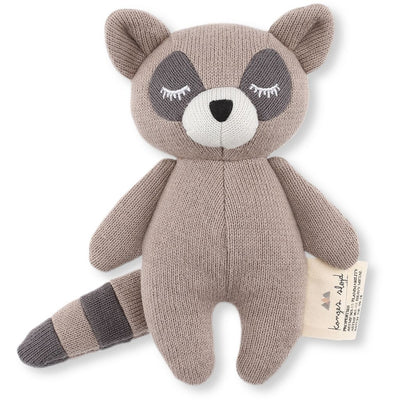Konges Slojd Mini Racoon Soft Toy - Brown - Nursery Edit