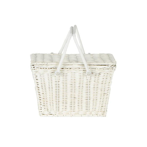 Olli Ella Piki Basket - White - Nursery Edit