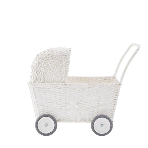 Olli Ella Strolley Toy Pram - White