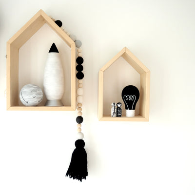 Wooden House Shelves - Nursery Edit