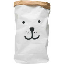 Load image into Gallery viewer, Tellkiddo Paper Toy Storage Bag - Bear - Nursery Edit
