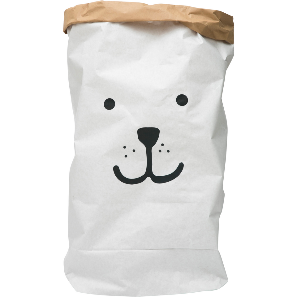 Tellkiddo Paper Toy Storage Bag - Bear