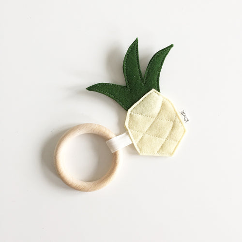 Bezisa Pineapple Teether Ring - Nursery Edit