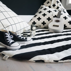 Wildfire Teepees Stripe/Cross Print Reversible Play Mat - Nursery Edit