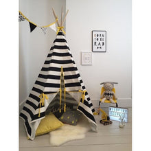 Load image into Gallery viewer, Wildfire Teepees Stripe Teepee Yellow Trim - Nursery Edit