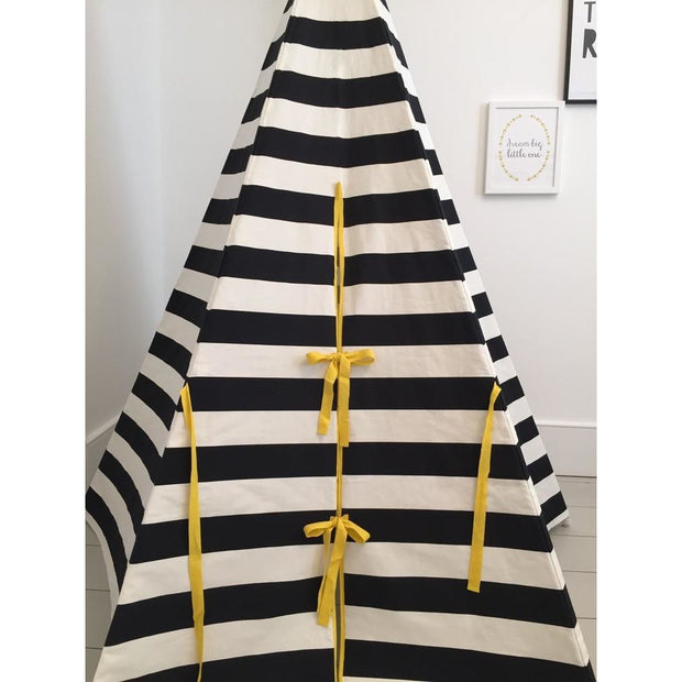 Wildfire Teepees Stripe Teepee Yellow Trim - Nursery Edit