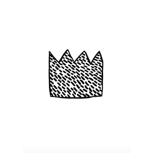 Wonder & Rah Monochrome Crown Print - A4/A3 - Nursery Edit