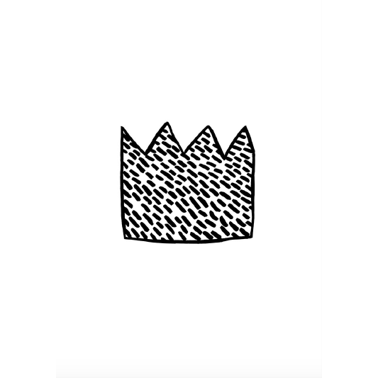 Wonder & Rah Monochrome Crown Print - A4/A3