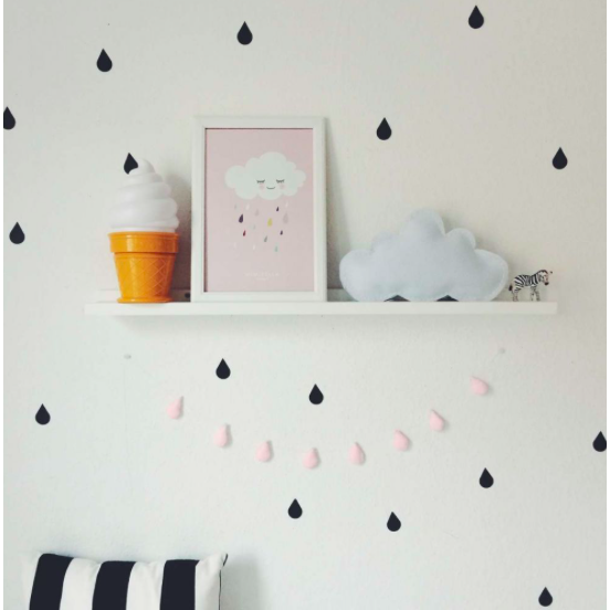 Black Drops Wall Stickers