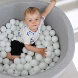 Grey Ball Pit - All White
