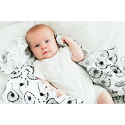 Etta Loves 3 Sensory Plant Print Muslin Squares - Ideal for 0-4 month old babies - Nursery Edit