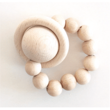 Load image into Gallery viewer, Bezisa Wooden Rattle Teether Mini 02 - Natural - Nursery Edit