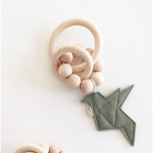 Load image into Gallery viewer, Bezisa Birds Rattle Teether - Pistachio Green - Nursery Edit