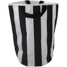Load image into Gallery viewer, Wildfire Teepees Stripe Toy Storage Bag - Black Handles - Nursery Edit