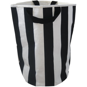 Wildfire Teepees Stripe Toy Storage Bag - Black Handles - Nursery Edit