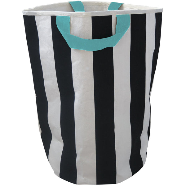 Stripe Toy Storage Bag - Seafoam Handles