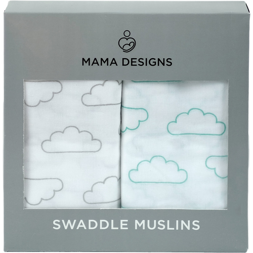 Muslin Swaddles / Extra Large Muslins - Cloud 2 Pack