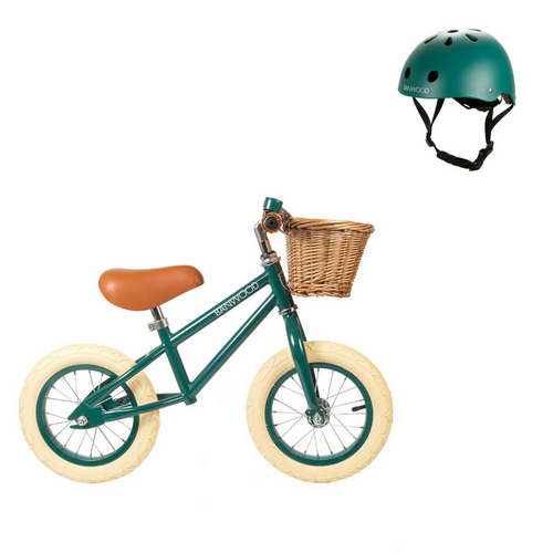 First Go! Balance Bike + Helmet - Green