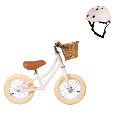 First Go! Balance Bike + Helmet - Pink