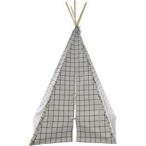 Wildfire Teepees Grid Teepee with White Trim - Nursery Edit