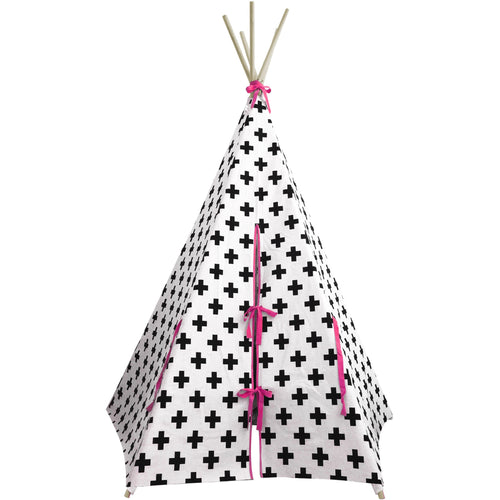 Cross Teepee with Pink Trim
