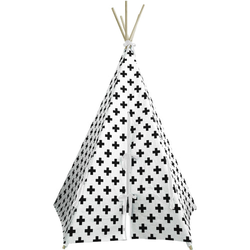 Wildfire Teepees Cross Teepee with White Trim