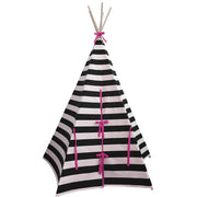 Wildfire Teepees Stripe Teepee Pink Trim - Nursery Edit